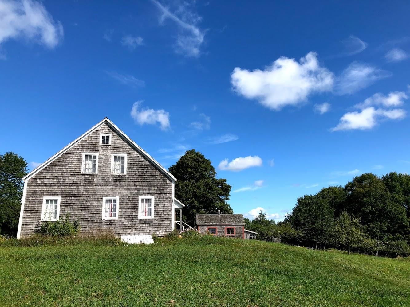 Ross Farm Museum, blue sky day.