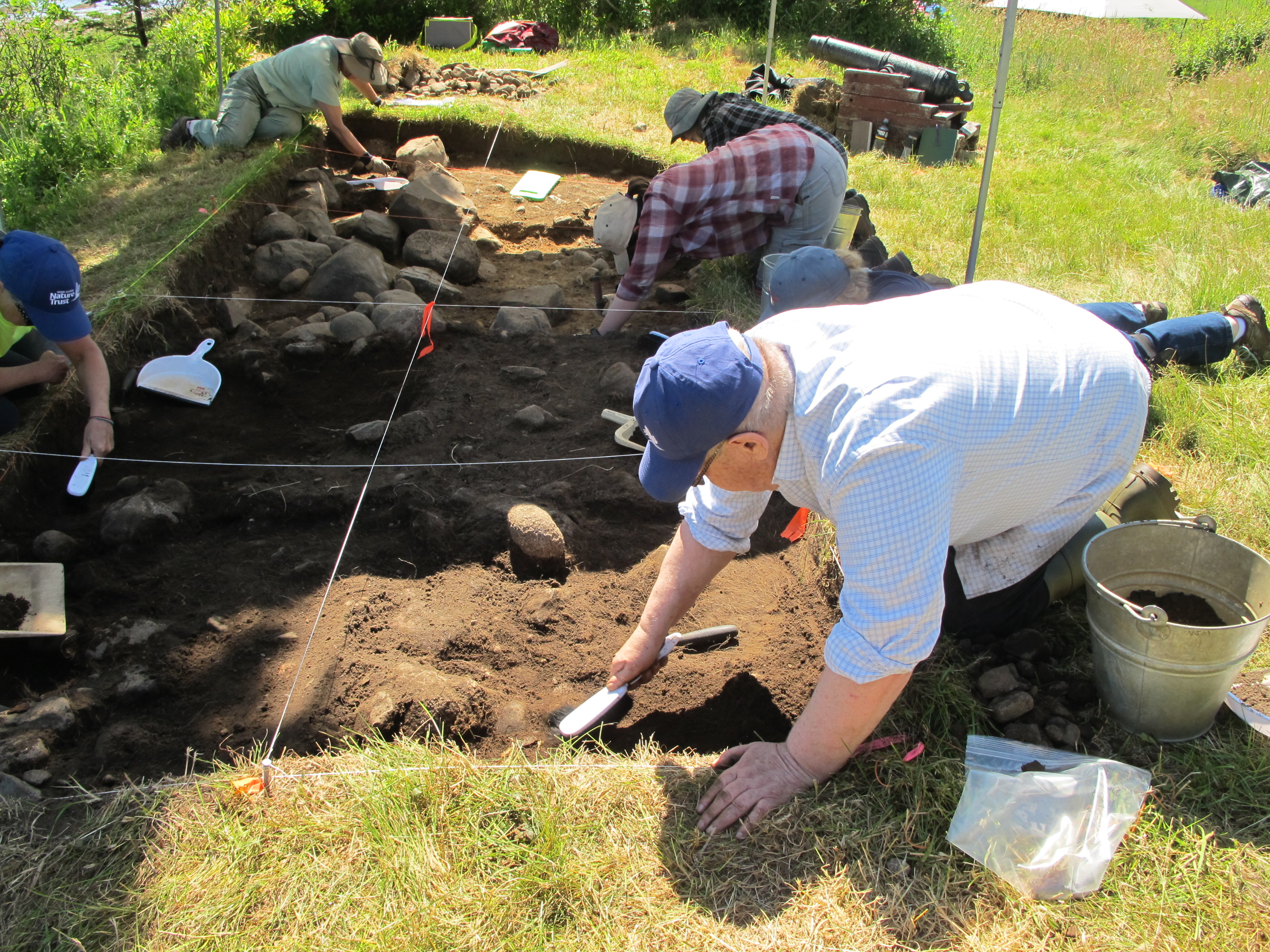 Another beautiful day for the public dig. Keith was signed up last year and was delighted to rejoin the excavation efforts in 2019.
