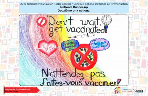 2018 National Immunization Poster Contest, National Runner-up (Bilingual)