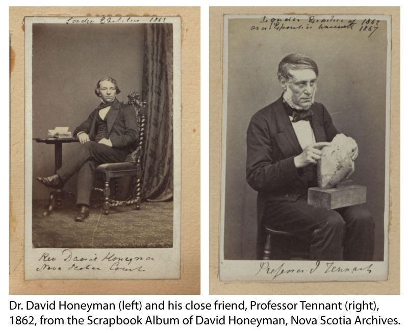 David Honeyman and Professor Tennant, 1862