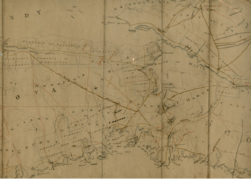 This map, made within a few years of the arrival of Captain Ross and the other settlers in Sherbrooke, clearly shows the location of Rosebank which indicates that it quickly became a major landmark in the region.