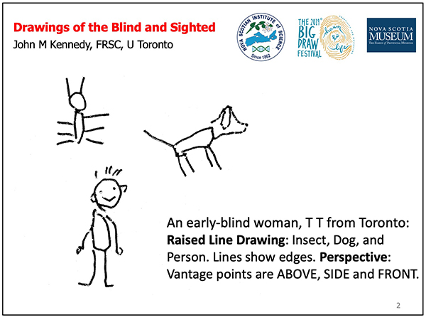 Drawings of blind showing vantage points