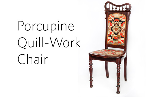 Porcupine quill work chair