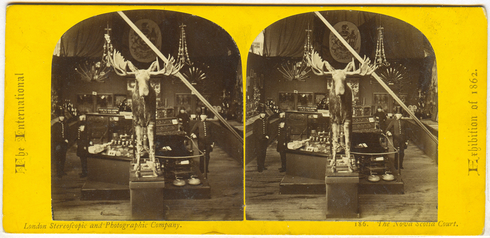 Stereoscopic Phogotraph of Nova Scotia Court 1862 Exhibition