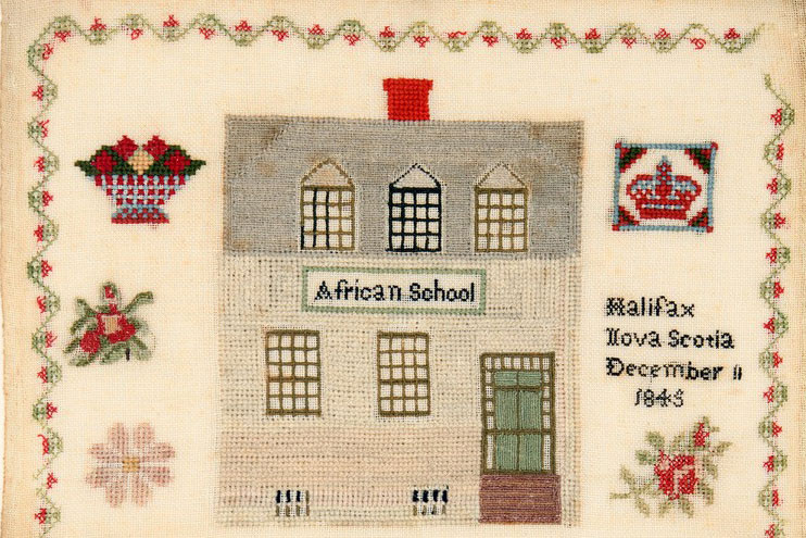 African School sampler, Cultural History Collection, Nova Scotia Museum, 2018.14.1.